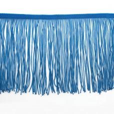 Бахрома полиэстер 15 см. Цвет: голубой. Артикул: P15-1-4