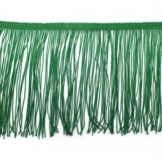 Бахрома на ленте 15 см. Цвет: зеленый