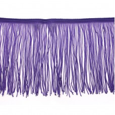 Фиолетовая бахрома на ленте 15 см