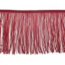 Бахрома полиэстер 15 см. Цвет: красный. Артикул: P15-1-8
