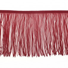 Красная бахрома на ленте 15 см