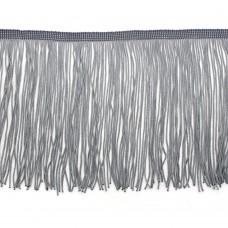 Бахрома полиэстер 15 см. Цвет: серый. Артикул: P15-1-9