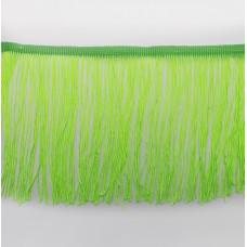 Кислотно-зеленая бахрома на ленте 15 см
