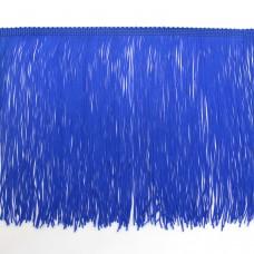 Синяя бахрома на ленте 20 см