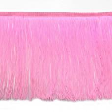 Розовая бахрома на ленте 20 см