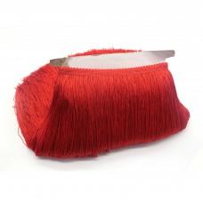 Бахрома полиэстер 30 см. Цвет: красный. Артикул: BKH3-001