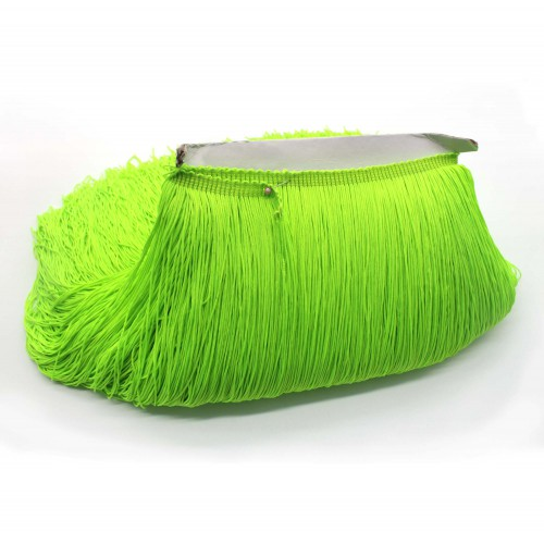 Кислотно-зеленая бахрома на ленте 30 см