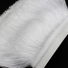 Бахрома полиэстер 15 см. Цвет: белый. Артикул: P15-1