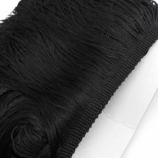 Бахрома полиэстер 15 см. Цвет: черный. Артикул: P15-2
