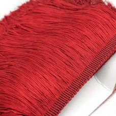 Бахрома полиэстер 15 см. Цвет: красный. Артикул: P15-4