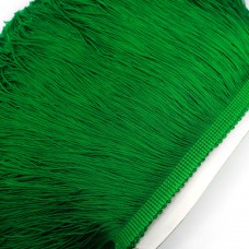 Бахрома полиэстер. 20 см. Цвет: зеленый. Артикул: P20-8