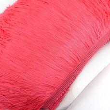 Бахрома полиэстер. 20 см. Цвет: ярко-розовый. Артикул: P20-9