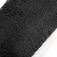 Бахрома полиэстер. 20 см. Цвет: черный. Артикул: P20-12