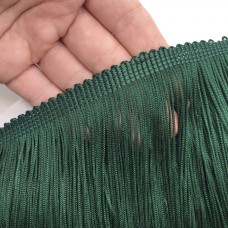 Бахрома полиэстер. 20 см. Цвет: темно-зеленый. Артикул: P20-6