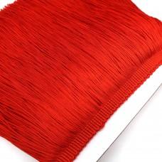 Бахрома полиэстер. 20 см. Цвет: красный. Артикул: P20-15