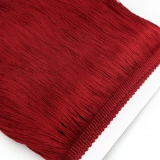 Бахрома полиэстер. 20 см. Цвет: бордовый. Артикул: P20-16