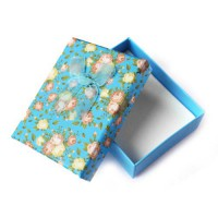 Коробочка подарочная для украшений. Цвет: голубой. Артикул: КА-1