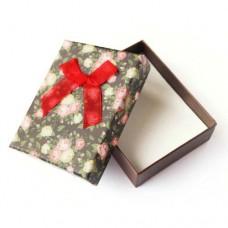 Коробочка подарочная для украшений. Цвет: коричневый и красный. Артикул: КА-6
