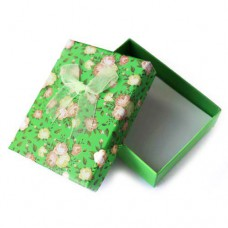 Коробочка подарочная для украшений. Цвет: зеленый. Артикул: КА-4
