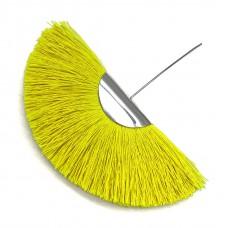 Веерная кисть. Шапочка - родий. Цвет: лимонный. Артикул: 7623