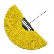 Веерная кисть. Шапочка - чернение. Цвет: желтый. Артикул: 7924