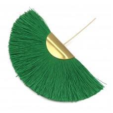 Веерная кисть. Шапочка - золото. Цвет: зеленый. Артикул: 7988