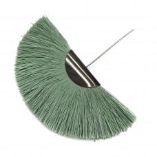 Веерная кисть. Шапочка - чернение. Цвет: приглушенный-зеленый. Артикул: 7668