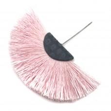 Веерная кисть. Шапочка - родий. Цвет: светло-розовый. Артикул: 7921.
