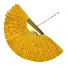 Веерная кисть. Шапочка - золото. Цвет: солнечный. Артикул: 7951.