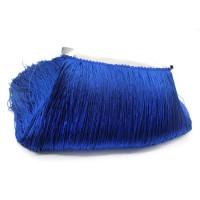 Бахрома полиэстер 30 см. Цвет: синий. Артикул: BKH3-003