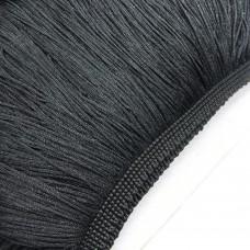 Бахрома полиэстер 50 см. Цвет: черный. Артикул: pol-50-2.