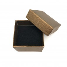 Коробочка подарочная 5х5 см. Цвет: бронзовый. Артикул: K5-5-1