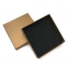 Коробочка подарочная 9х9 см. Цвет: бронзовый. Артикул: K9-9-3