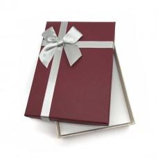 Коробочка подарочная 10х14 см. Цвет: бордовый. Артикул: 15-0.