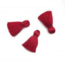 Маленькая кисточка из вискозы. Цвет: красный. Артикул: 42-7.