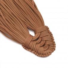 Плетеная кисть из нейлонового шнура. Цвет: коричневый. Артикул: 10.