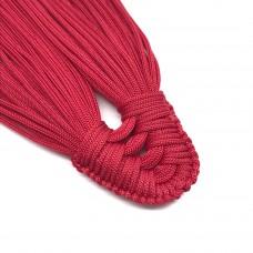 Плетеная кисть из нейлонового шнура. Цвет: малиновый. Артикул: 2.