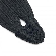 Плетеная кисть из нейлонового шнура. Цвет: черный. Артикул: 4.