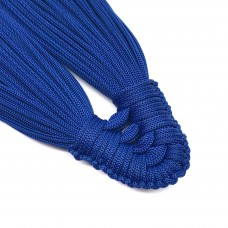 Плетеная кисть из нейлонового шнура. Цвет: синий. Артикул: 5.