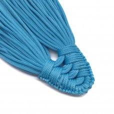 Плетеная кисть из нейлонового шнура. Цвет: голубой. Артикул: 6.