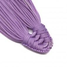 Плетеная кисть из нейлонового шнура. Цвет: сиреневый. Артикул: 7.