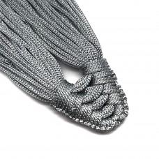 Плетеная кисть из нейлонового шнура. Цвет: светло-серый. Артикул: 8.