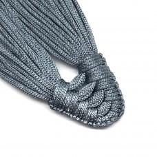 Плетеная кисть из нейлонового шнура. Цвет: серый. Артикул: 9.