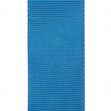 Лента репсовая 25 мм. Цвет: темно-голубой. Артикул: Р25-326.