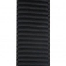 Лента репсовая 25 мм. Цвет: черный. Артикул: Р25-077.