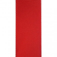 Лента репсовая 25 мм. Цвет: красный. Артикул: Р25-250.