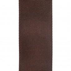 Лента репсовая 25 мм. Цвет: шоколадный. Артикул: Р25-855.