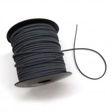 Шнур замшевый (искусственный). Цвет: темно-серый. Артикул: ШН-10