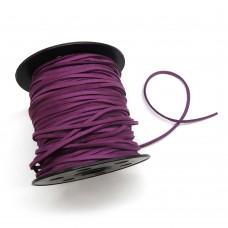Шнур замшевый (искусственный). Цвет: фиолетовый. Артикул: ШН-4