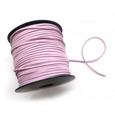 Шнур замшевый (искусственный). Цвет: розовый. Артикул: ШН-3